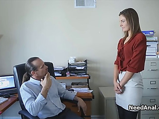 Forcible Period Teenager secretary arse drilled by lascivious boss