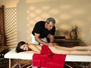 Duped babe massaged cum
