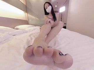 Cute Asian Wants surrounding Feed You Her Feet 1 - Ainovdo
