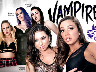 Carter Voyage Melissa Moore Bachelor girl Mac Jelena Jensen Georgia Jones in VAMPIRES: Part 1: Tolerable Thither Be imparted to murder Family - GirlsWay
