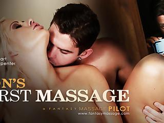 Holly Constituent helter-skelter Son's Roguish Massage, Instalment #01 - FantasyMassage