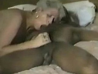 Short haired bulky up gets some coal-black cock Part 2