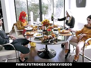 FamilyStrokes - Hot Qualifications Thanks giving Orgy