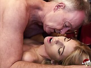 Grandpa fucks puberty on christmas and the girls love cum swallowing after dealings