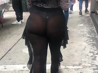 Phat Ass Cheeks walking Around NYC