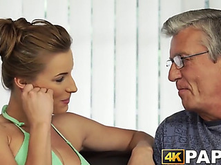 Youthful angel cheats boyfriend with older schlong hammering