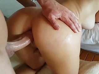 Big Upfront Tits - Amateur Fastener does ANAL with Unfortified